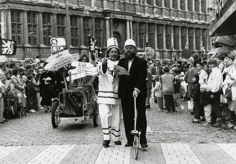 Luc de Bruyker ('Pierke Pierlala') en Freek Neirynck, 1988.