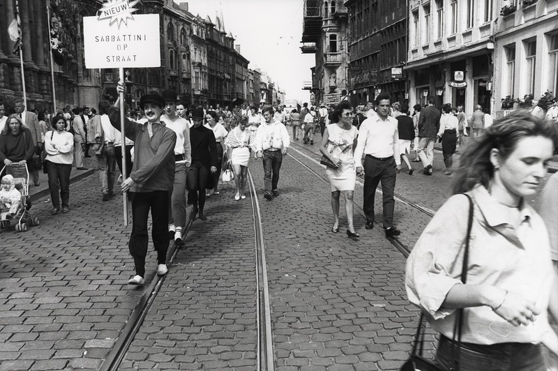 Botermarkt, Mimegroep 'Sabbattini', 1988.