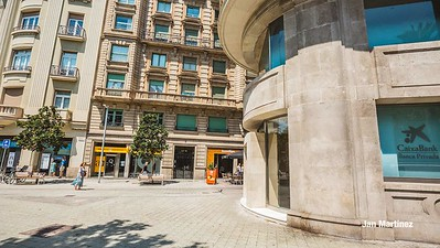 Diagonal Lateral Street Classic Pedestrian Tree Monument July Classic Bcn-43