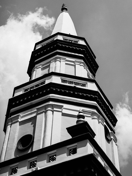The Leaning Tower of Singapore, Hajjah Fatimah Mosque. Singapore