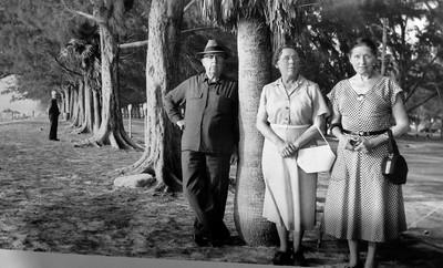 Frank and Ida Stone, Meron Kassenbrock vacationing in FL, 1955