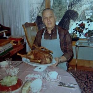 Ralph, the consummate chef, 1971