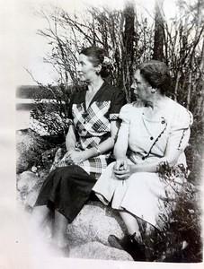 Meron Kassenbrock and Ida Stone (sisters), 1949