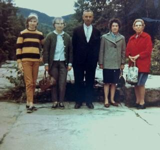 Jenny, Wilma and Charles Stone, Flora Flint, Ida Stone, 1968