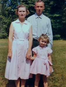 Wilma, Charles and Jenny Stone, 1960