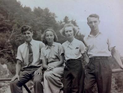 Tom Stone, Sr., Mary Stone, Wilma Stone, Charles Stone, 1940