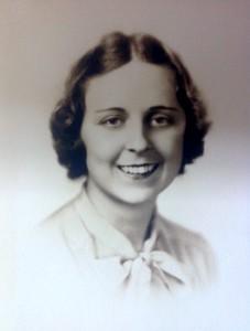 Joanna Stone (Benjamin) at Boston Univ., 1937
