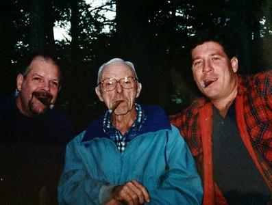 Lee Cordner, Charles Stone, Tom Stone III, enjoying a good cigar, 1995