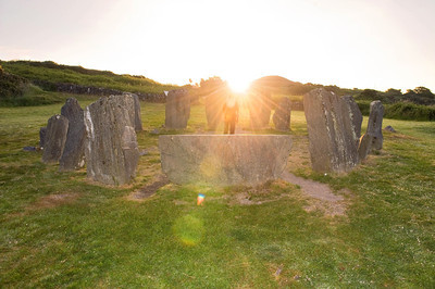June 21st 2010 As the Sun rises at the Drombeg Stone Circle, between Rosscarbery and Glandore, the longest day of the year begins. Although the Drombg Stone Circle is aligned for a Winter Solstice Sunset on December 21st, people come at Summer Solstice to see the sunrise there.