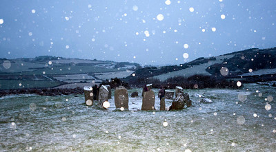 Drombeg Winter Solstice, December 21st 2010, no sunset but plenty of snow