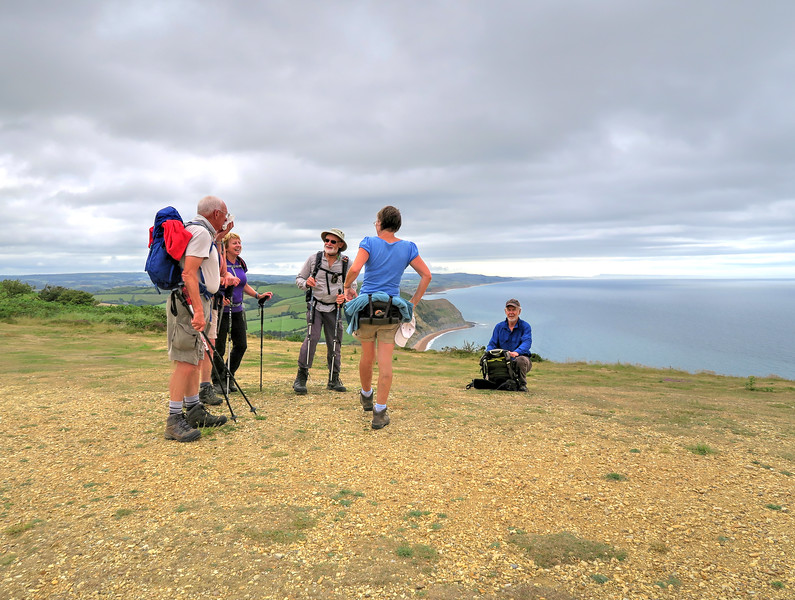The group reaches Golden Cap, at 191 m or 627 feet the highest point on the South Coast of England.