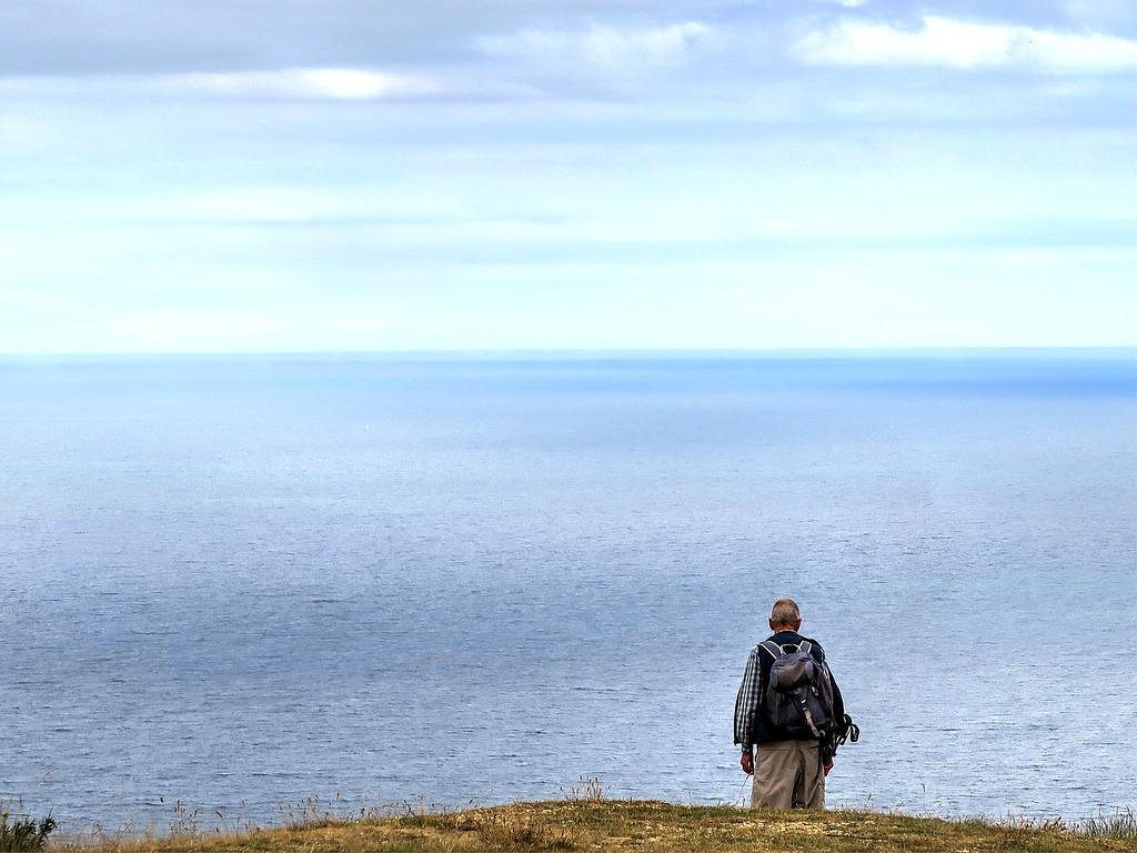 ... John who was contemplating the cliff edge!