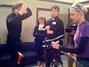 Miles Teller, Kendrick Reinsch and Nicole Balsam on NYU Film & TV Set
