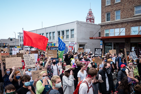 Stonewall march in solidarity with Black Lives Matter in Bellingham, WA
