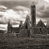 Kilmacduagh Abbey Ruins, County Clare, May 2012