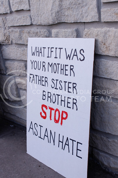 Community members gathered in City Park on March 28 for a Stop Asian American and Pacific Islander Hate Flashlight Vigil to honor the lives of the Asian American women who were killed in Atlanta, Georgia. Some members of the AAPI community shared stories of times when they struggled with race or faced racism. (Kaylie McLaughlin   Collegian Media Group)