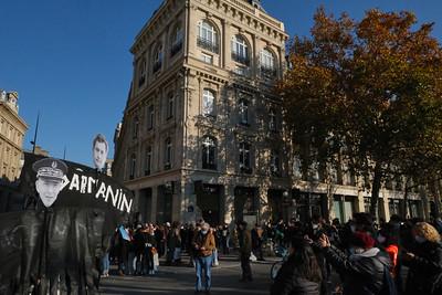 Première Marche des libertés, à Paris, le samedi 28 novembre 2020.