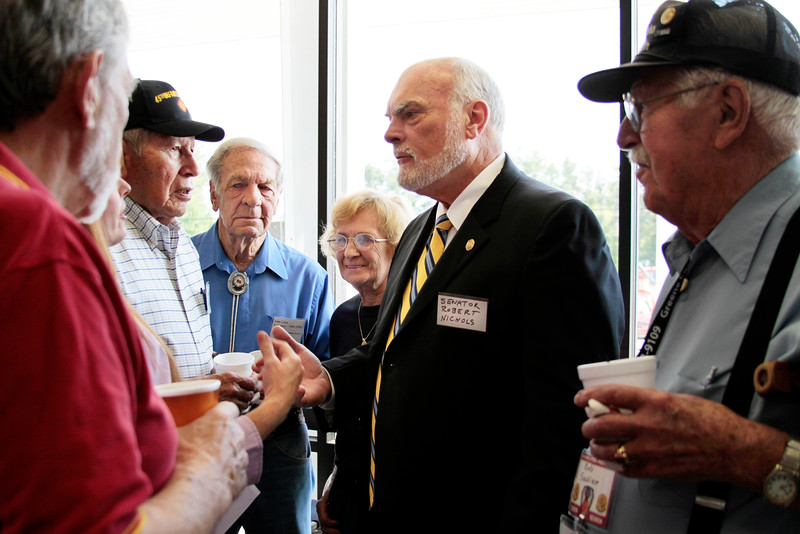 Senator Nichols speaks with WWII veterans
