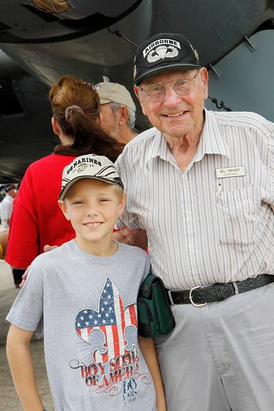 Honor Flight veterans visit WWII warbirds and B-17 Saturday April 30, 2011
