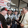 Constable Gene Deforest, is presented with a plaque of appreciation by the Southeast Texas Patriot Guard Riders