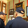 WWII Veterans who served in the 45th Infantry out of Oklahoma discuss museum memorabilia related to their unit. HEARTS museum (veteran on the left is John Brown)