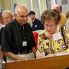 WWII Veteran Moses Attaya and Dalva Grayless, wife of WWII Veteran Ray Grayless sign in at HEARTS museum