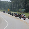 Patriot Guard Riders lead the way