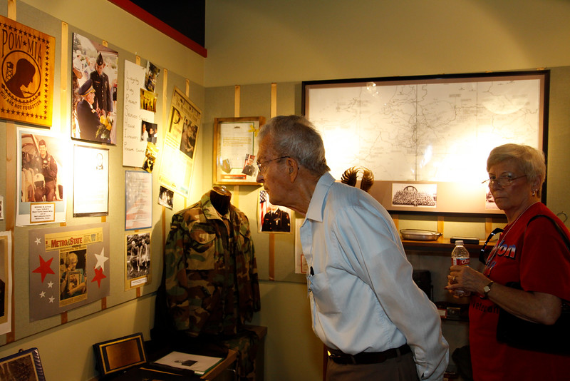 WWII veteran Del Lammers (age 97) and WWII veteran Rusty Brewington.