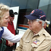 The Houston Livestock Show and Rodeo Armed Forces Committee greats WWII veterans to the Armed Forces Appreciation Day.