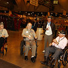 WWII Veterans participate in the Houston Livestock Show and Rodeo Armed Forces Appreciation Day. WWII veterans Clyde, Miller, Wendell, Hartley, Walter, White, Roy, Hughes