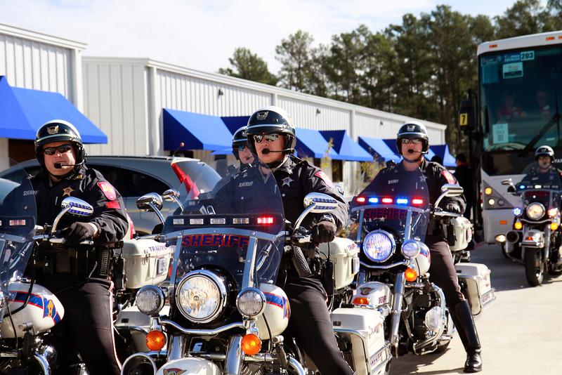 Montgomery Co. Sheriff's bicycle escort