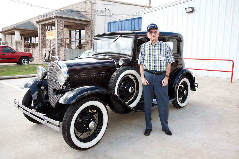 Bobby Joe. Veterans and friends enjoyed a trip down memory lane while viewing a Model A Ford.  Model A courtesy of Jerry Kent from the Pinewood Model A club.