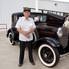 RB. Veterans and friends enjoyed a trip down memory lane while viewing a Model A Ford.  Model A courtesy of Jerry Kent from the Pinewood Model A club.