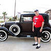 PK. Veterans and friends enjoyed a trip down memory lane while viewing a Model A Ford.  Model A courtesy of Jerry Kent from the Pinewood Model A club.