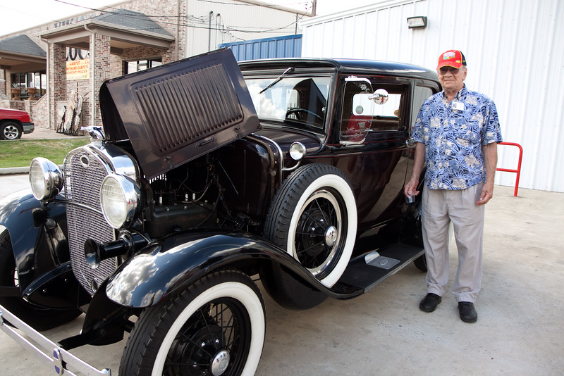 Wendell. Veterans and friends enjoyed a trip down memory lane while viewing a Model A Ford.  Model A courtesy of Jerry Kent from the Pinewood Model A club.