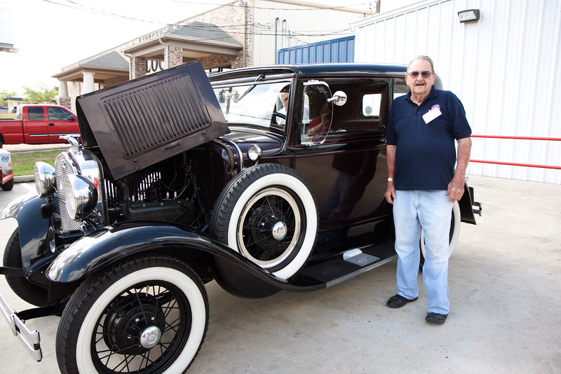 Rudy. Veterans and friends enjoyed a trip down memory lane while viewing a Model A Ford.  Model A courtesy of Jerry Kent from the Pinewood Model A club.