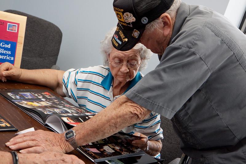 June 1, 2011 Flag raising in honor of WWII veteran Ernest Hildebrandt