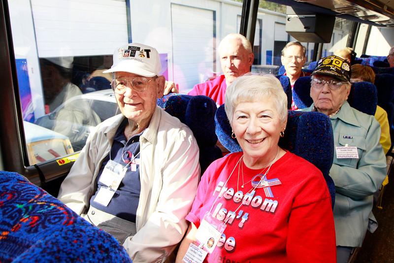 WWII veteran Pete Mullinax and daughter Julee MacDonald