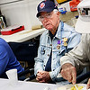 Monthly veteran breakfast provided by Vernon's Kuntry Katfish. WWII veteran James Brown.
