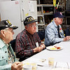 Monthly veteran breakfast provided by Vernon's Kuntry Katfish. WWII veterans Joseph Smith, RB Kelly, James Brown.