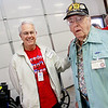 Military supporter Spencer Knapp, WWII veteran Joseph Smith.