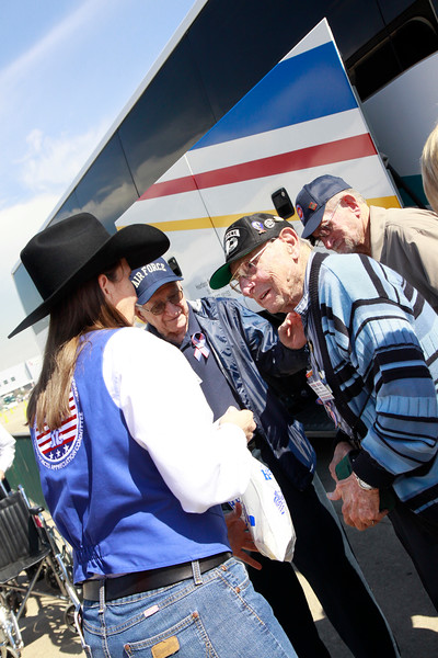Armed Forces Appreciation committee greets WWII veteran Mel Trennary