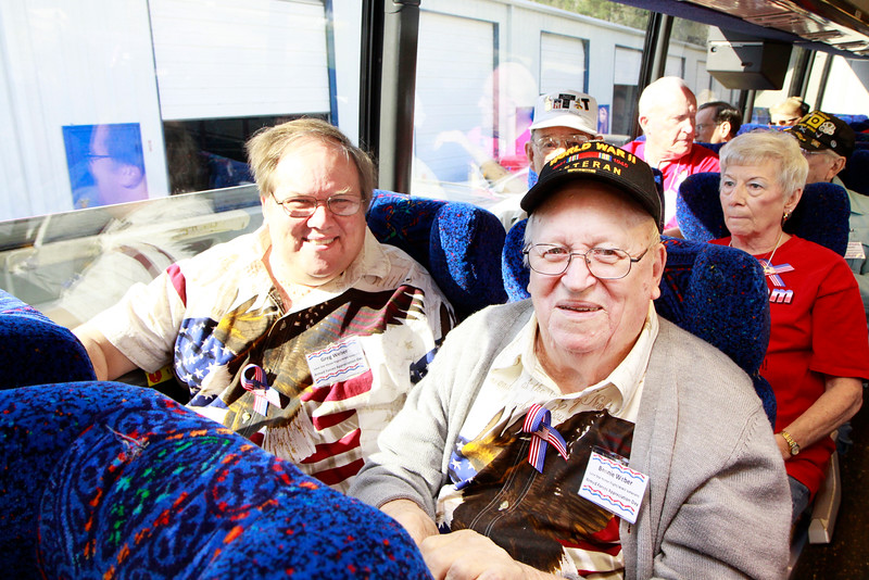 Greg and WWII veteran Benni Weber