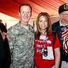 Brigadier General Joseph P. Disalvo, III Corps Chief of Staff at Fort Hood, and military supporter Karie H. of Front Echelon Photography.