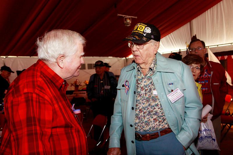 WWII veterans Edwin Fountain and Joseph Smith