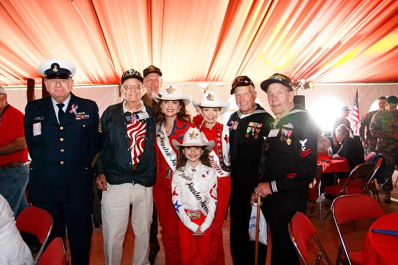 WWII veterans John Heyde, Clyde Miller, Harding Boeker, Ike Hargraves and John Laws.