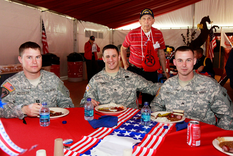 Our working military from Ft. Hood, TX