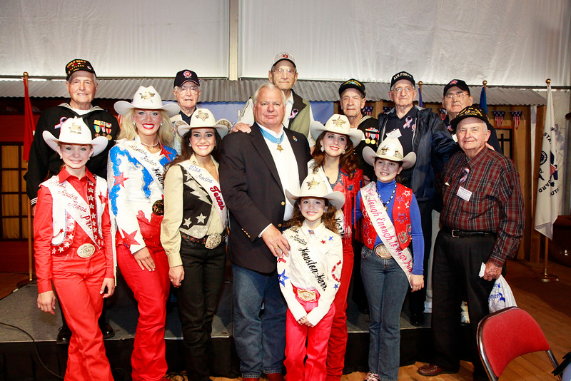 Congressional Medal of Honor recipient, Mike Thornton along with WWII veterans and Ms. Houston Rodeo