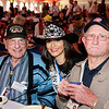 WWII veterans Mel Trennary and Doug Stewart with Ms Houston