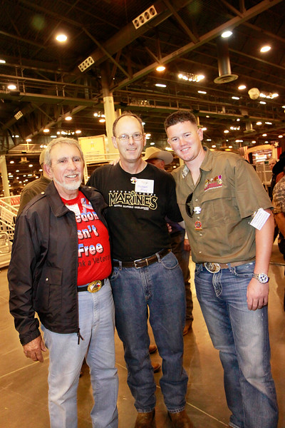 """Lou Frietas, Captain Texas State Patriot Guard Riders, Michael May and Wounded Warrior and member of Combat Marine Outdoors Steve May  <a href=""""http://www.combatmarineoutdoors.org"""">http://www.combatmarineoutdoors.org</a>"""